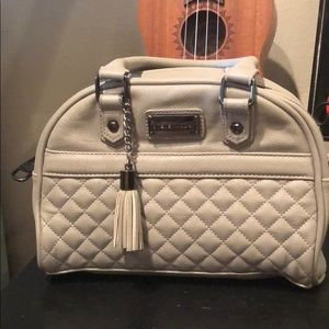 Steve Madden Light Grey Quilted Tote